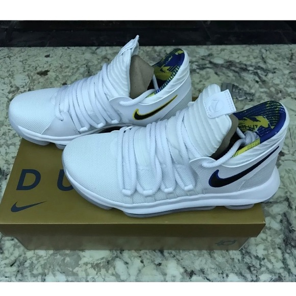 quality design 34937 43be9 Nike Zoom KD10 Golden State Sz 7Y White Royal Blue NWT